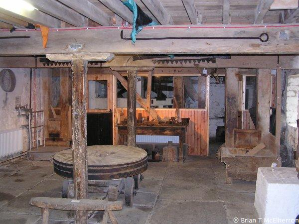 Picture of the interior of Kells Mill